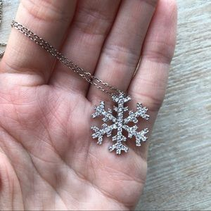 925 Silver Necklace with Snowflake Pendant ❄️